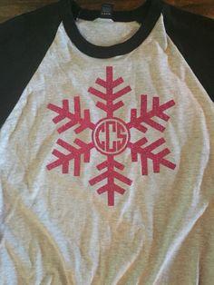 Monogram T Shirts, Diy Monogram, Vinyl Shirts, Monogrammed Ideas, Tee Shirts, Tees, Christmas Shirts, Christmas Vinyl, Christmas Projects