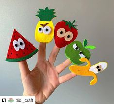 "Romanian Artisans on Instagram: ""Is time to learn the #fruits and @didi_craft can help you with that... Buy her new set of fruits for interactive learning and #montessori…"""
