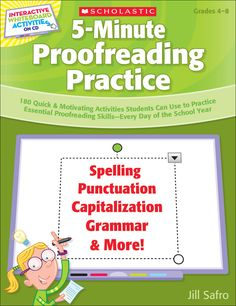 5-Minute Proofreading Practice | 180 short exercises for the SMART Board™ that actively engage students in proofreading practice to sharpen their writing skills and prepare for standardized tests!