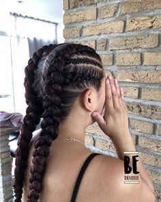Two braids – goddess braids – – Best Hair Style Models Two Braid Hairstyles, Girl Hairstyles, Straight Hairstyles, Hairstyles 2018, Braided Hairstyles For Black Hair, Hairstyles Pictures, American Hairstyles, Medium Hair Styles, Curly Hair Styles