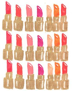 #DIY Idea: Create a print with your favorite lipstick shades! For a make up area