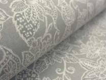 Cotton Curtain Fabric Sakura Stone Grey