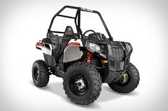 Polaris Sportsman Ace | This single-rider ATV is powered by a 4-Stroke Pro-Star engine, and offers on-demand all-wheel-drive, tons of storage, a locking rear cargo box, a hefty towing capacity of up to 1,500 lbs, LED lights, and a clever, open design. Making it easy to enter and exit the vehicle while keeping you safe. ( $7,500 )