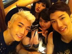Wooyoung (2PM) + Jia (Miss A) + Suzy (Miss A) + Jo Kwon (2AM)