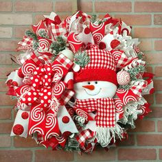 Excited to share this item from my shop: Christmas snowman wreath, holiday wreath, door wreath, Christmas decor. Grinch Christmas Decorations, Valentines Day Decorations, Christmas Snowman, Christmas Crafts, Christmas Trees, Christmas Wired Ribbon, Christmas Mesh Wreaths, Winter Wreaths, Snowman Wreath