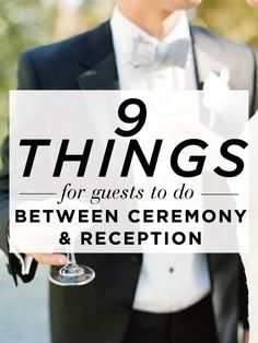 Things for your guests to do - fun! I probably wouldn't do all of these but I liked a couple of them.Repinned by mikebdjmc http://mbeventdjs.com #weddingdj