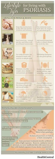 Informative article on Tips for Living with Psoriasis #Infographic...