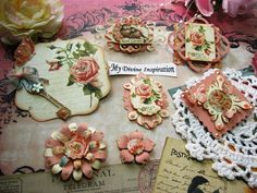Secret Garden Scrapbook Embellishments by mydivineinspiration, $5.49