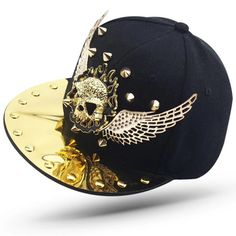 Skull caps are excellent for absorbing moisture and keeping hair under control. Go for one of these caps if you need a skull cap that will make you look better and also adds a bit of style to your look. Hip Hop Costumes, Dope Hats, Flat Hats, Skull Head, Skull Print, Snapback Hats, Hats For Men, Baseball Cap, Motocross Gloves