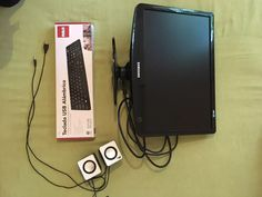 monitor samsung 19  + teclado y parlantes