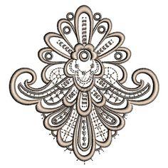 Bridal Lace machine embroidery designs