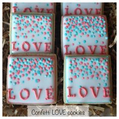 LOVE cookies with confetti