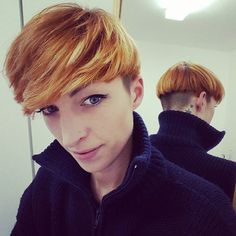 WEBSTA @ johinsway - Bowl cut yourself #bowlcut #hairstyle #copperhair #diy #garçon #androgynous #picoftheday