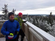 Trail run in Koli, Finland