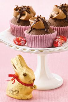 Lindt Chocolate Cupcakes with Chocolate Butter Cream Frosting