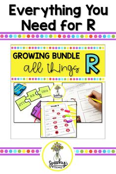 Everything you need to teach and elicit the R sound in speech therapy- vocalic, blends, prevocalic, activities, worksheets, and more! #vocalicr #speechtherapyideas #speechtherapyactivities Articulation Therapy, Articulation Activities, Speech Therapy Activities, Hands On Activities, Phonological Processes, Phonological Awareness, Feeling Stuck, How Are You Feeling, Say Hi