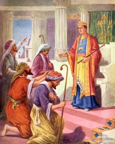 Joseph before his brothers in Egypt