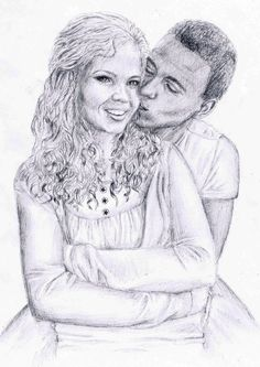#drawing #sister and her #boyfriend #kiss