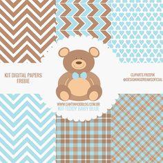 SCRAPKIT TEDDY BABY BLUE FREE - Cantinho do blog