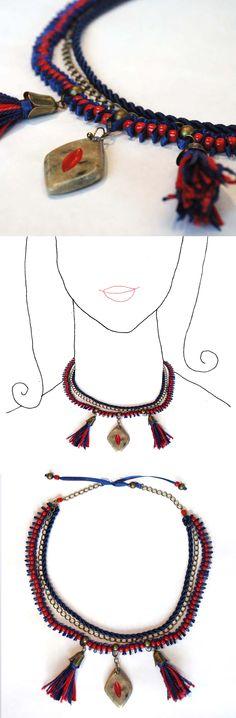 Handmade necklace. unique piece.  online shop at dawanda coming soon  See more at www.caixademistos.com