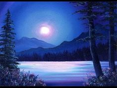 Moonlit Waters / Small & Simple Oil Painting Exercise for Beginners - YouTube