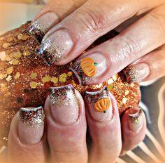 Pumpkin Spice - Nail Art Gallery