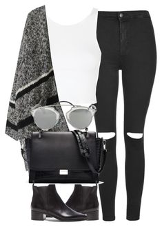 """""""Untitled #3731"""" by london-wanderlust ❤ liked on Polyvore featuring Topshop, Elizabeth and James, Acne Studios and Christian Dior"""