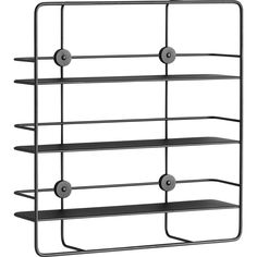 Woud Coup_ Rectangular Shelf | Black 140140
