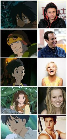 'The Secret World of Arrietty' characters & American voice actors.