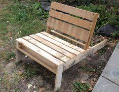 Recycled shipping pallet furniture / Chaise longue en bois de palettes (2)