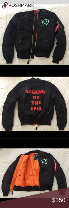 The Weeknd XO Bomber Jacket The Weeknd Starboy: Legend of the Fall Official Tour Merch Alpha Industries Jackets & Coats Bomber & Varsity