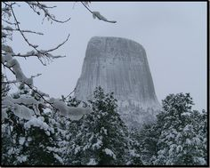 Devils Tower in #winter, Wyoming | IwasThere2 http://www.iwasthere2.com/?p=118402 #landscape #nature