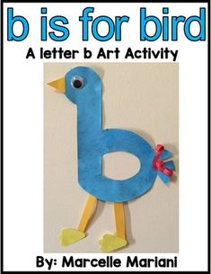 √ Preschool Letter B Crafts. 6 Preschool Letter B Crafts. Letter B Art Activity Template B is for Bird Freebie Preschool Letter B, Letter B Activities, Summer Preschool Activities, Alphabet Letter Crafts, Pre K Activities, Preschool Writing, Classroom Activities, Preschool Crafts, Letter Art