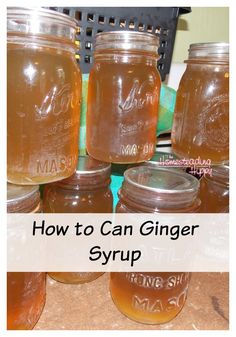 Make a batch of this ginger syrup and can it up for long term storage. Have it on hand for homemade ginger ale, upset tummies and more! The Homesteading Hippy #homesteadhippy #fromthefarm #preserving #prepared
