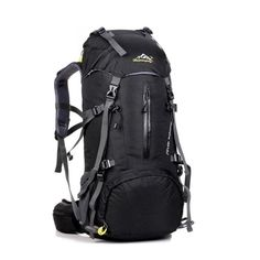 PopSky Mountaintop Outdoor Sport Water-resistant Internal Frame Backpack Hiking Backpack Backpacking Trekking Bag With Rain Cover Climbing, Camping, Hiking,Travel and Mountaineering(Black Travel Backpack, Travel Luggage, Backpack Bags, Travel Packing, Travel Bags, Backpack Camping, Luggage Bags, Backpacking Gear, Camping Gear