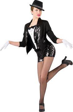 J101- Girl's Tuxedo Jacket, TJ03- Tuxedo Bustier, B979- Sequin Booty Shorts
