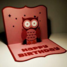 Owl Birthday Card Silhouette Cameo
