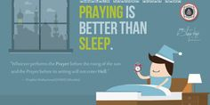 PRAYING IS BETTER THAN SLEEP | PureIslamicDesigns.com