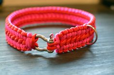 Double+Cobra+Knot+Large+Paracord+Dog+Collar+by+AlphaKnots+on+Etsy,+$25.00