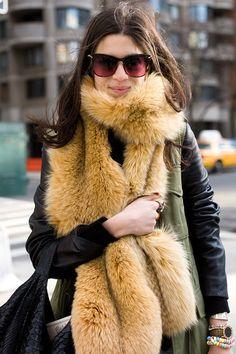 Vanessa Jackman: New York Fashion Week AW 2011...Leandra...faux