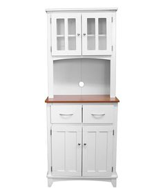 Beautiful Microwave Storage Cabinet with Hutch