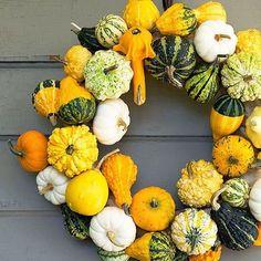 14 Festive + Modern Fall Wreaths You Can DIY via Brit + Co