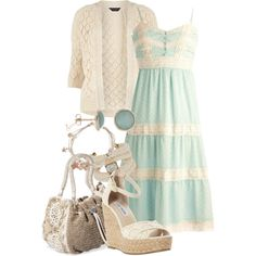 """""""wedges and lace"""" by meganpearl on Polyvore"""