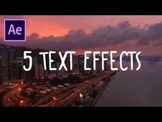 5 Great Text Effects in Adobe After Effects CC (Wiggle, Flicker & more animations) (How to Tutorial) - YouTube