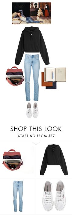 """Untitled #168"" by ahessah ❤ liked on Polyvore featuring SCHO, Off-White, Nobody Denim, Superga and Mark & Graham"