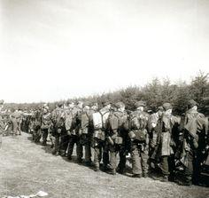 1945 Netherlands, Soest, Presentation of German soldiers of the 6 Fallschirmjäger-Division.