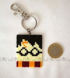 Harry Potter keyring hama beads by PontiPixel