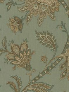 From Today's Traditionals by Nextwall, RL20002 is a jacobean , floral patterned wallpaper in green , brown. This collection of wallpapers are prepasted , vinyl free.