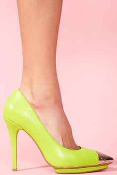 Bullet Platform Pump in Neon Green