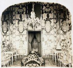 Carlos Díaz Ortiz 1920 Salón de Porcelana en el Palacio Real. Fragmento de estereoscopia. La fecha de la fotografía es aproximada. (Centro) Archivo fotográfico de la Comunidad de Madrid